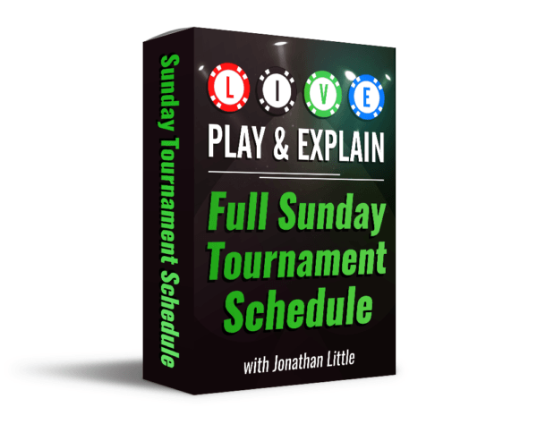 Live Play And Explain Full Sunday Tournament Schedule